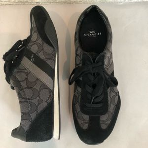 Coach Black & Gray Sig C Sneakers / Tennis Shoes